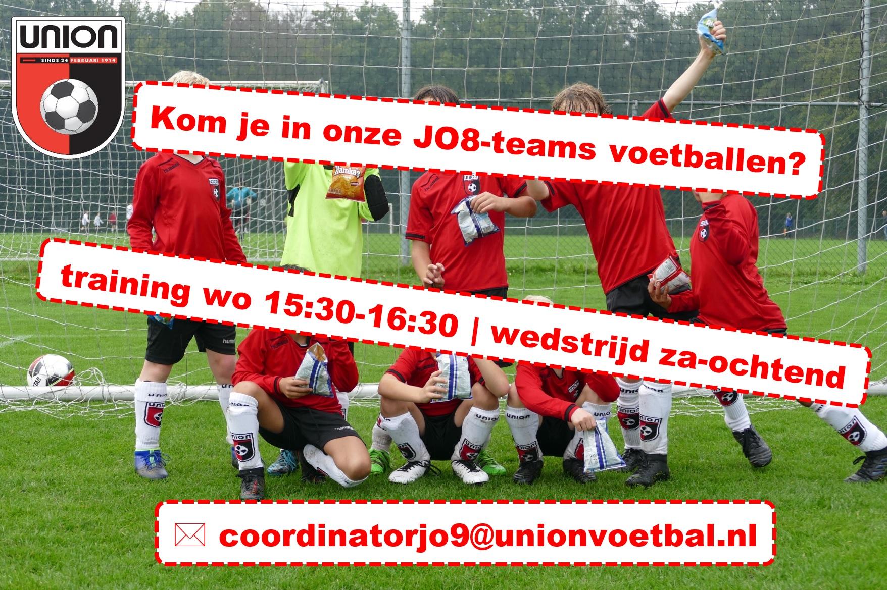 Begin met voetballen in een JO8-team!