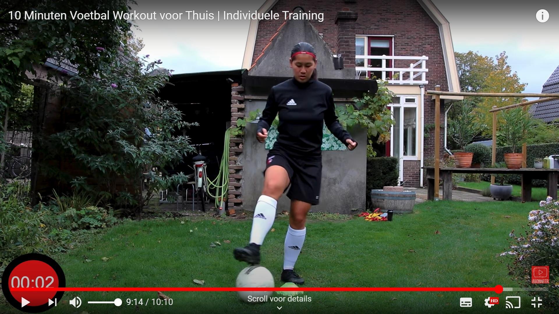 Blijf voetbalfit met de work-out van Jasmijn