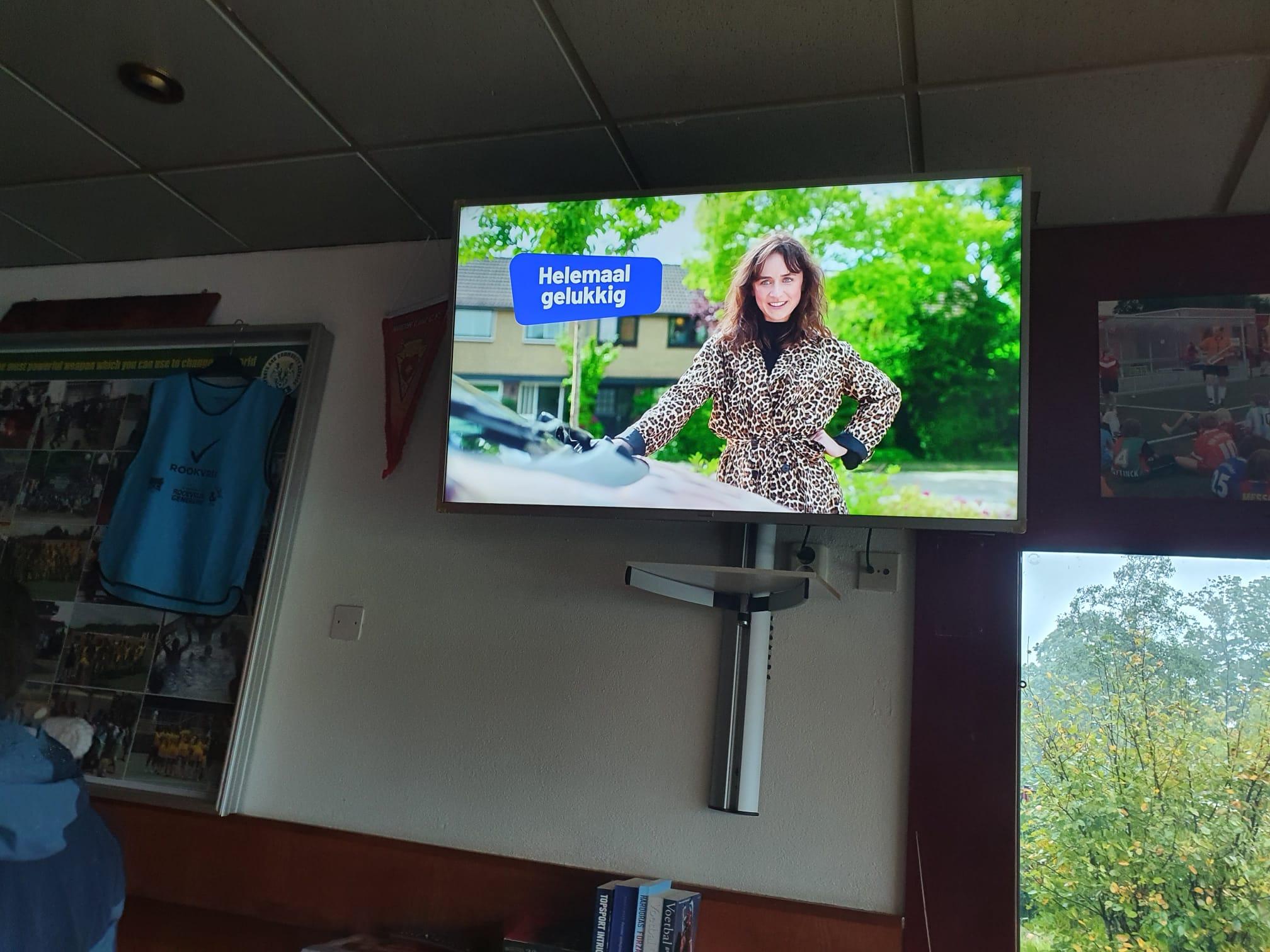 Nieuwe tv siert clubhuis